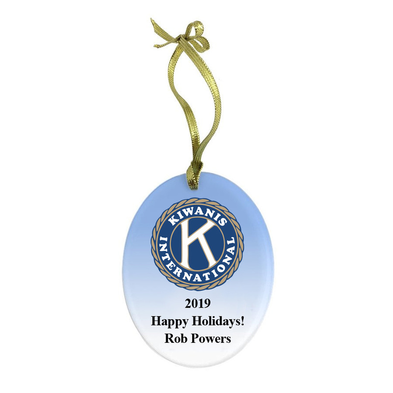 Kiwanis Holiday Color Glass Ornament