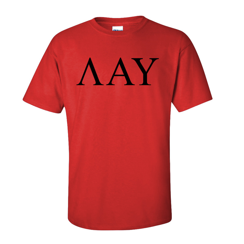 Lambda Alpha Upsilon Lettered Tee - $9.95!