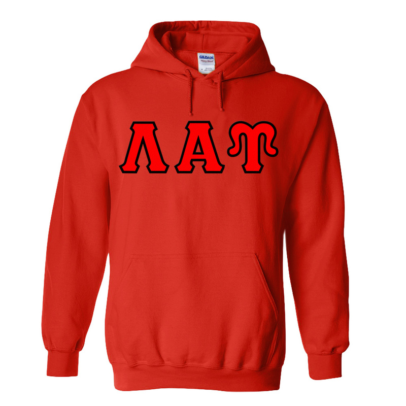 Lambda Alpha Upsilon Lettered Hooded Sweatshirts