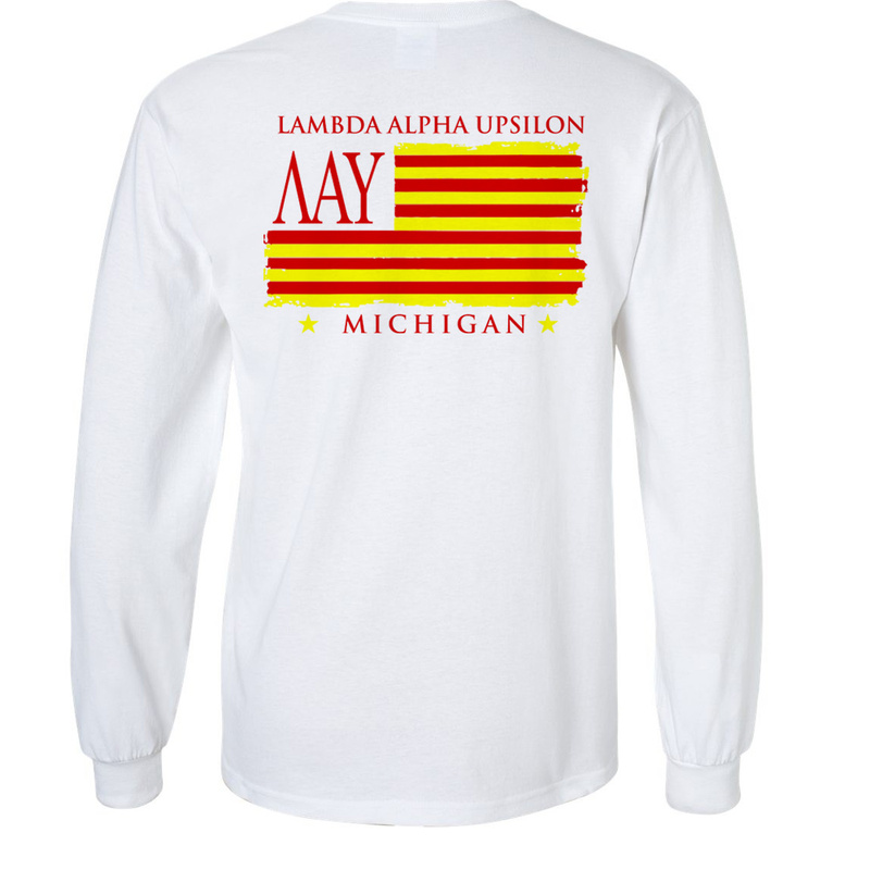 Lambda Alpha Upsilon Stripes Long Sleeve T-shirt - Comfort Colors