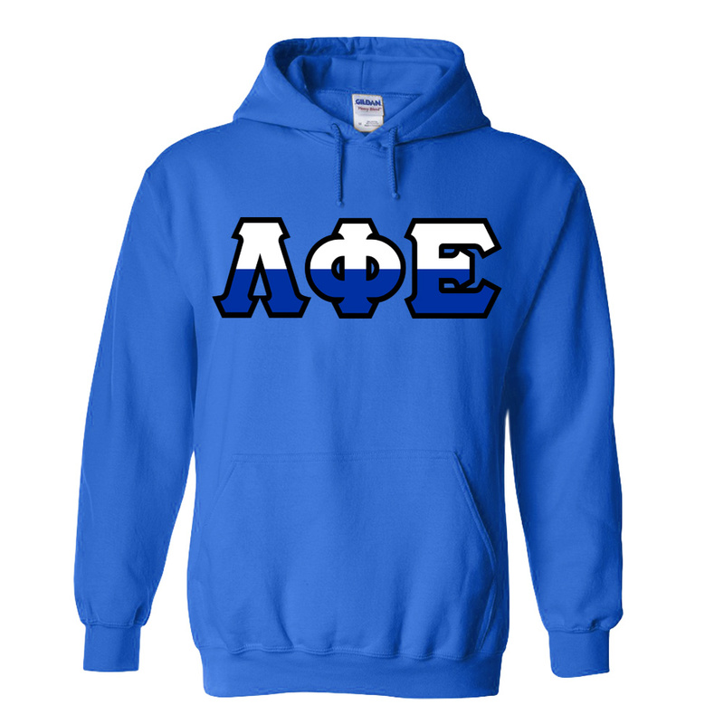 Lambda Phi Epsilon Two Tone Greek Lettered Hooded Sweatshirt