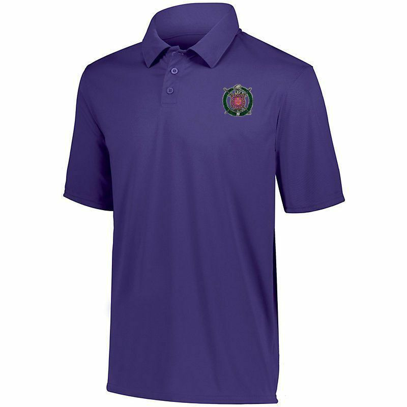 DISCOUNT-Omega Psi Phi- World Famous Greek Crest - Shield Vital Polo