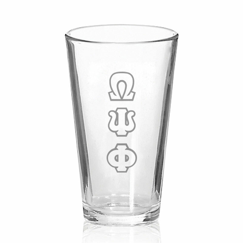 Omega Psi Phi Big Letter Mixing Glass