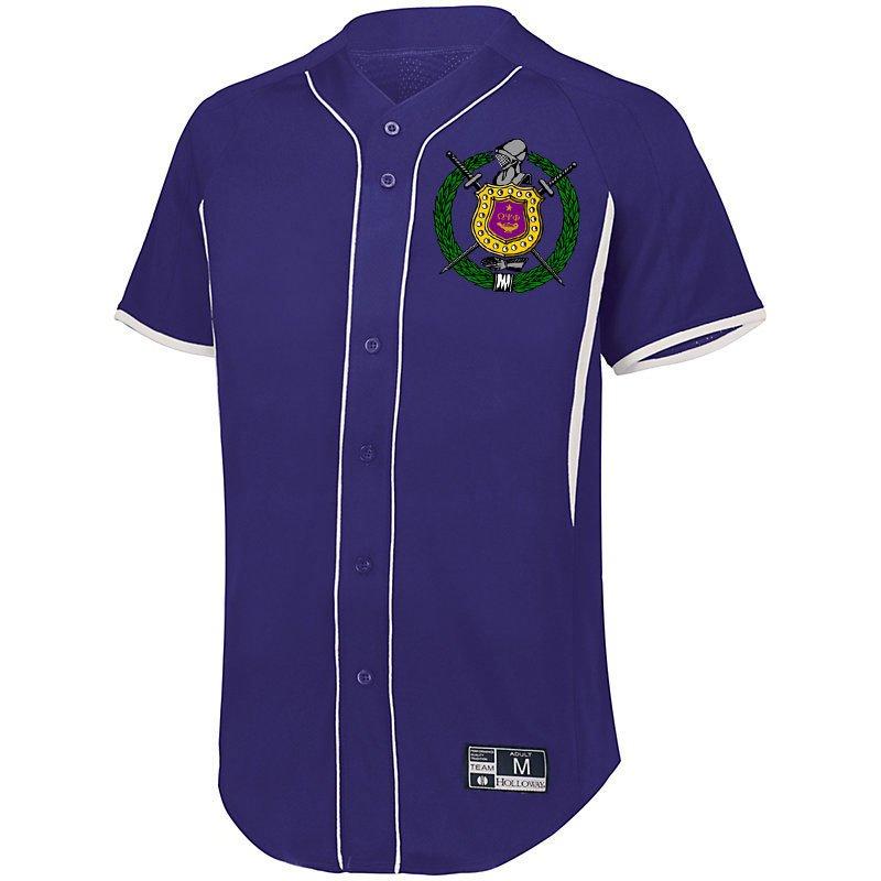 Omega Psi Phi Game 7 Full-Button Baseball Jersey