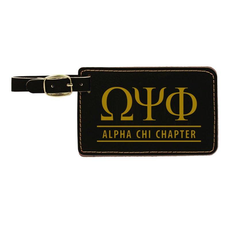 Omega Psi Phi Leatherette Luggage Tag