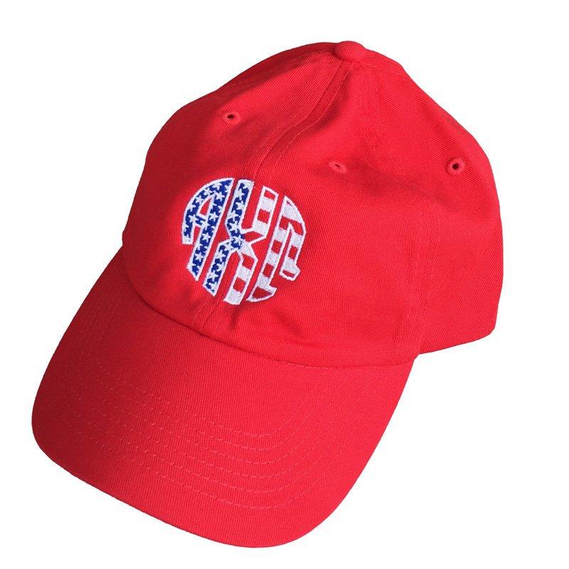 Patriotic Alpha Chi Omega Letter Hat
