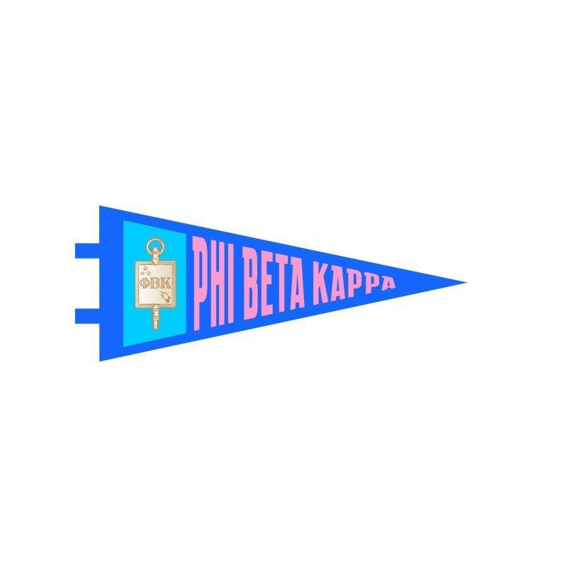 "Phi Beta Kappa Pennant Decal 4"" Wide"