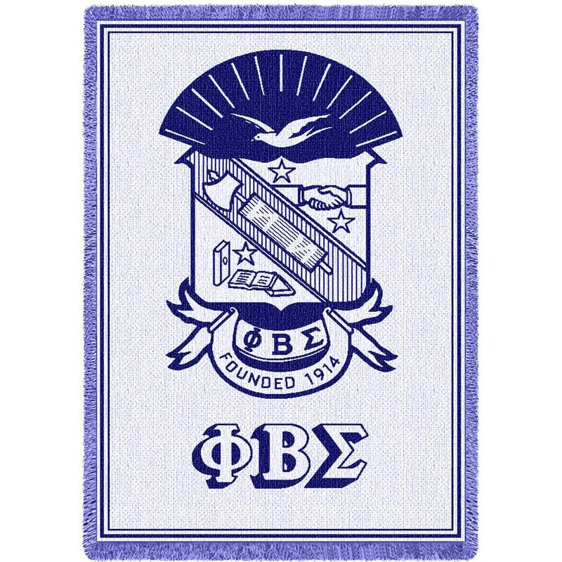 Phi Beta Sigma Afghan Blanket Throw