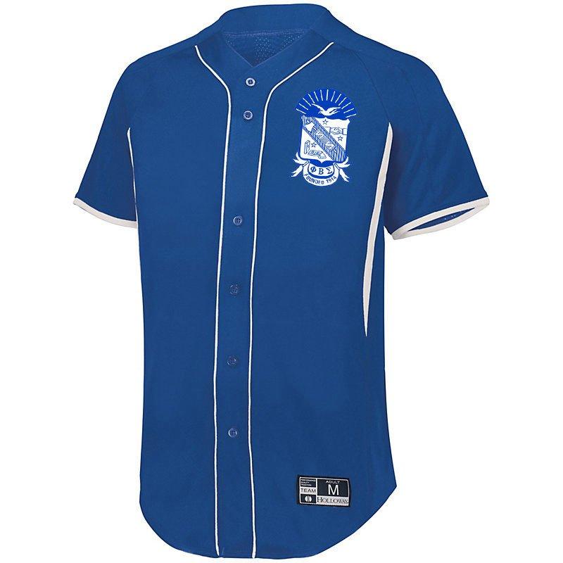 Phi Beta Sigma Game 7 Full-Button Baseball Jersey