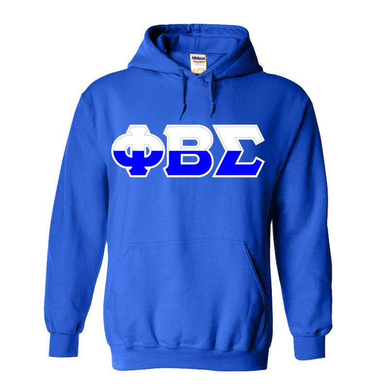 Phi Beta Sigma Two Tone Greek Lettered Hooded Sweatshirt