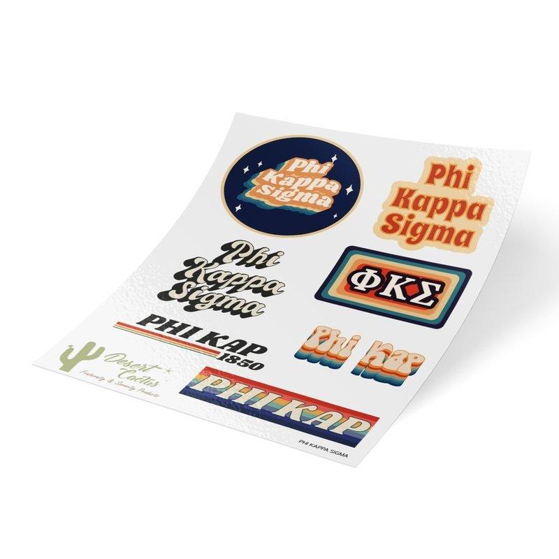 Phi Kappa Sigma 70's Sticker Sheet