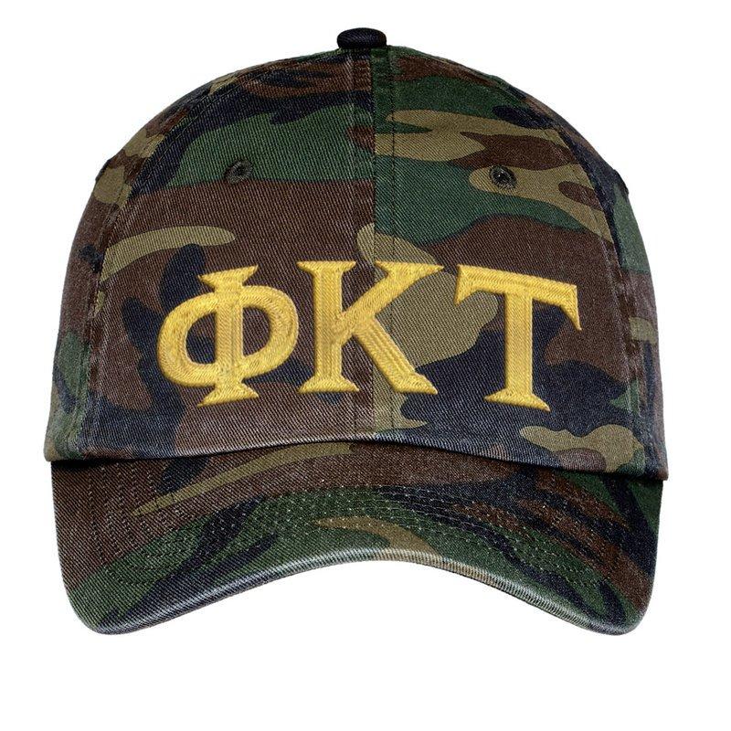 Phi Kappa Tau Lettered Camouflage Hat