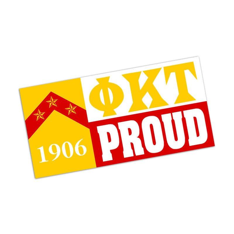 Phi Kappa Tau Proud Bumper Sticker - CLOSEOUT
