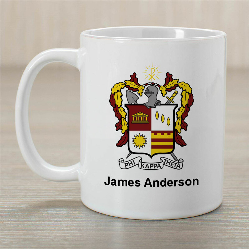 Phi Kappa Theta Greek Crest Coffee Mug - Personalized!