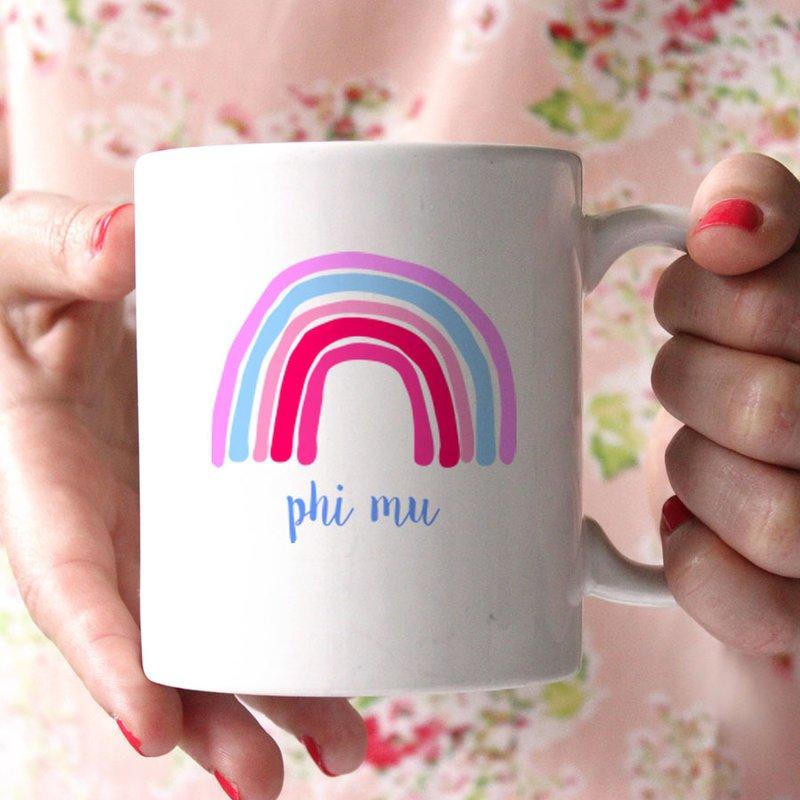 Phi Mu Rainbow Coffee Mug