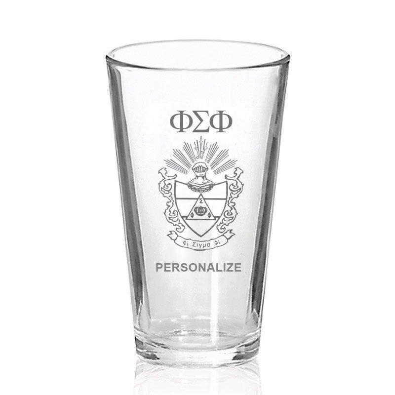 Phi Sigma Phi Mixing Glass