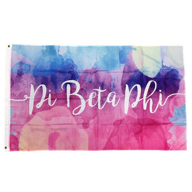Pi Beta Phi Letter Flag 3/' x 5/'