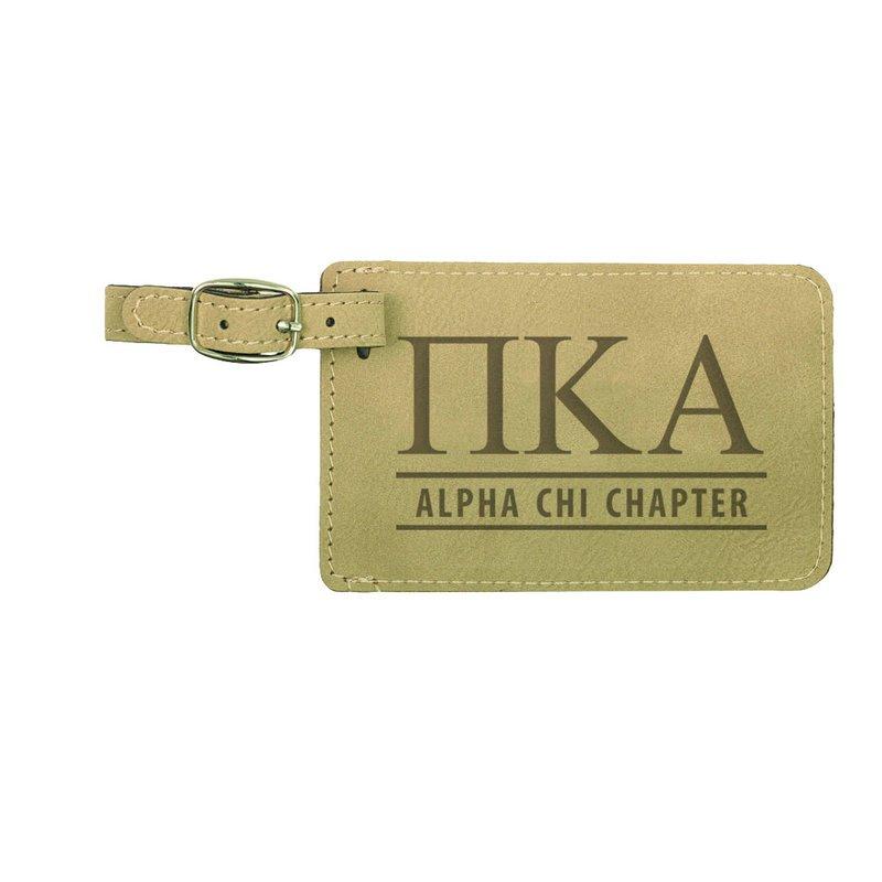 Pi Kappa Alpha Leatherette Luggage Tag