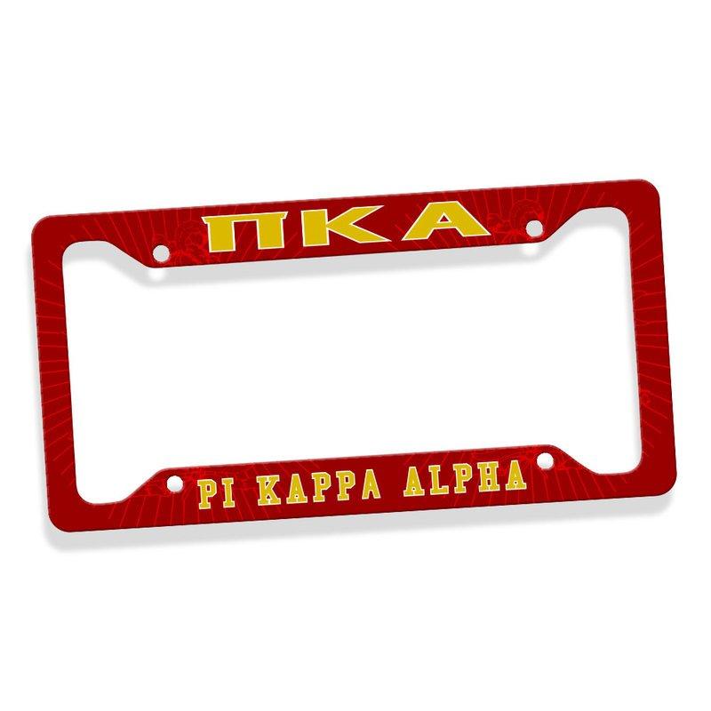 Pi Kappa Alpha Custom License Plate Frame