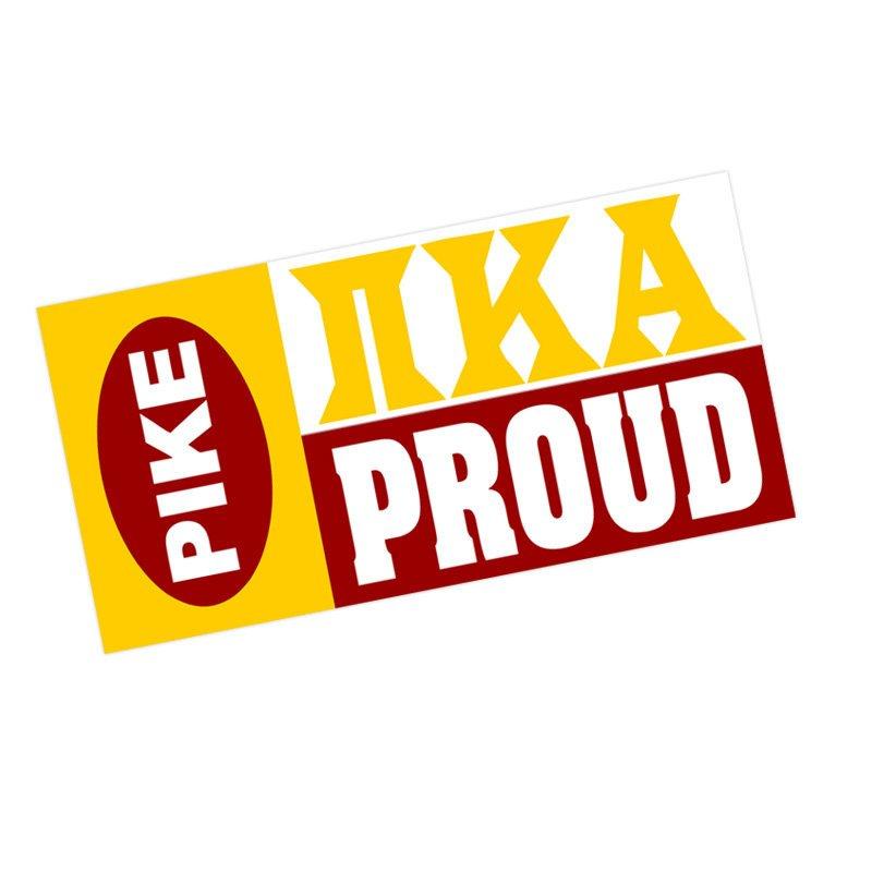Pi Kappa Alpha Proud Bumper Sticker - CLOSEOUT