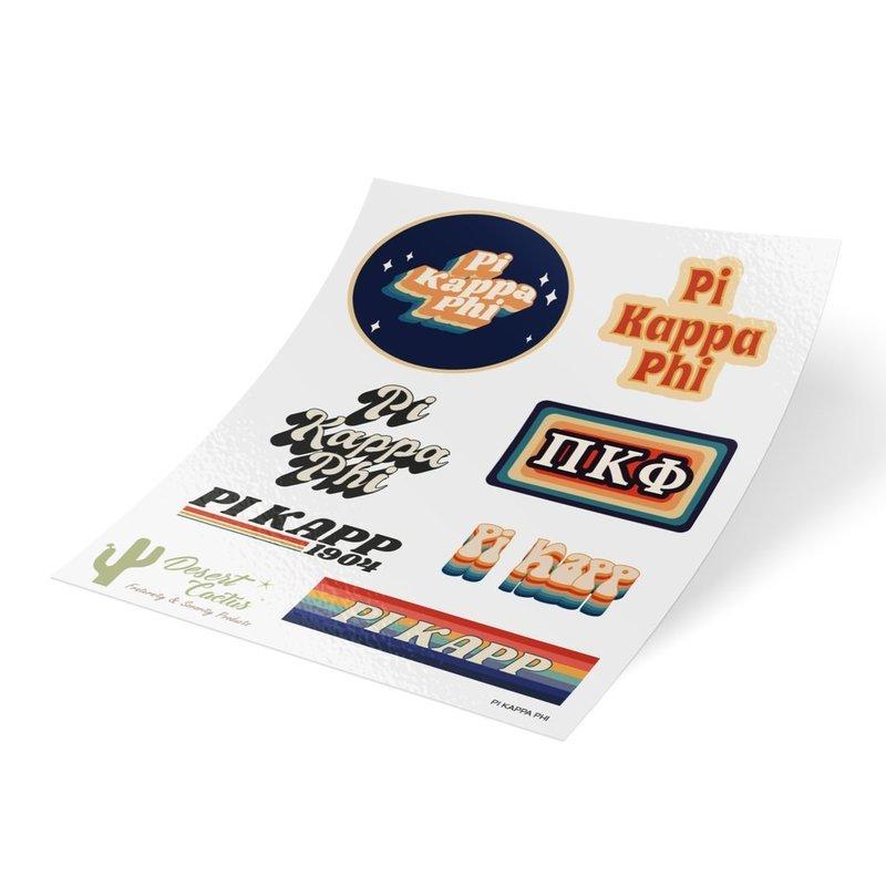 Pi Kappa Phi 70's Sticker Sheet