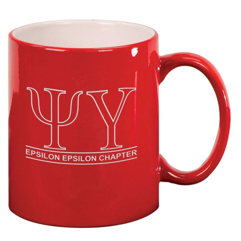 Psi Upsilon Custom Ceramic Coffee Mug