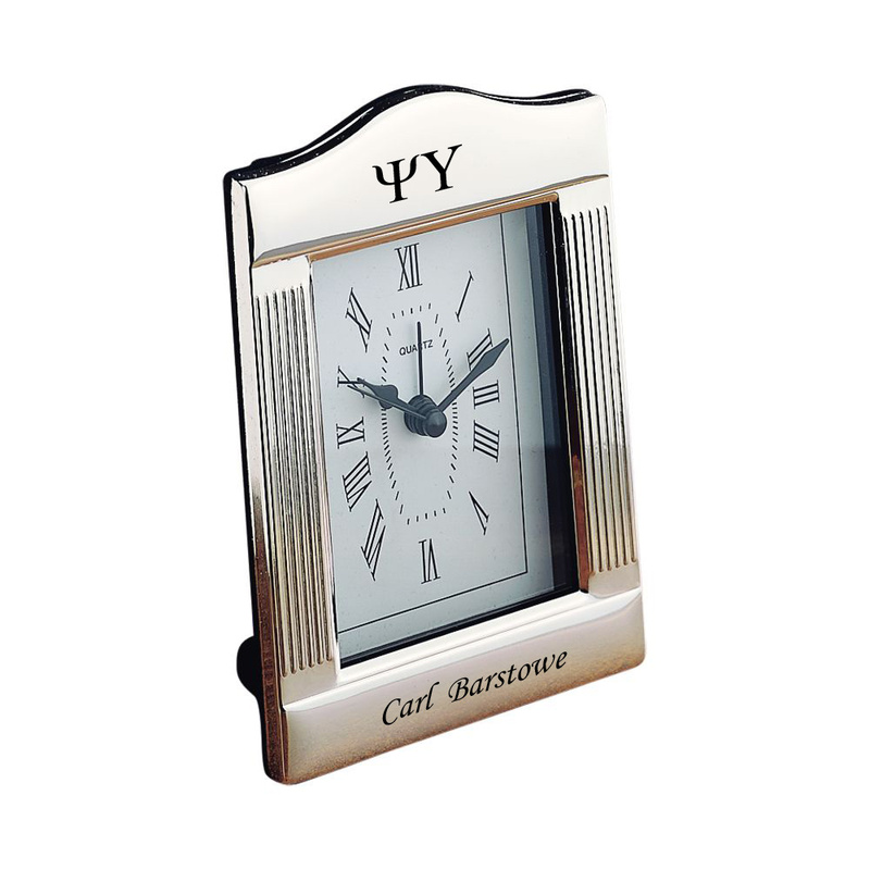 Psi Upsilon Greek Parthenon Style Alarm Clock