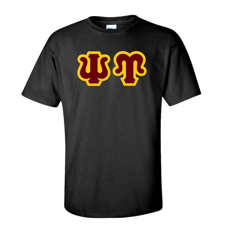 Psi Upsilon Sewn Lettered T-Shirt