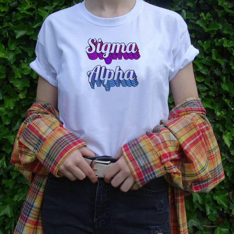 Sigma Alpha Echo Tee - Comfort Colors