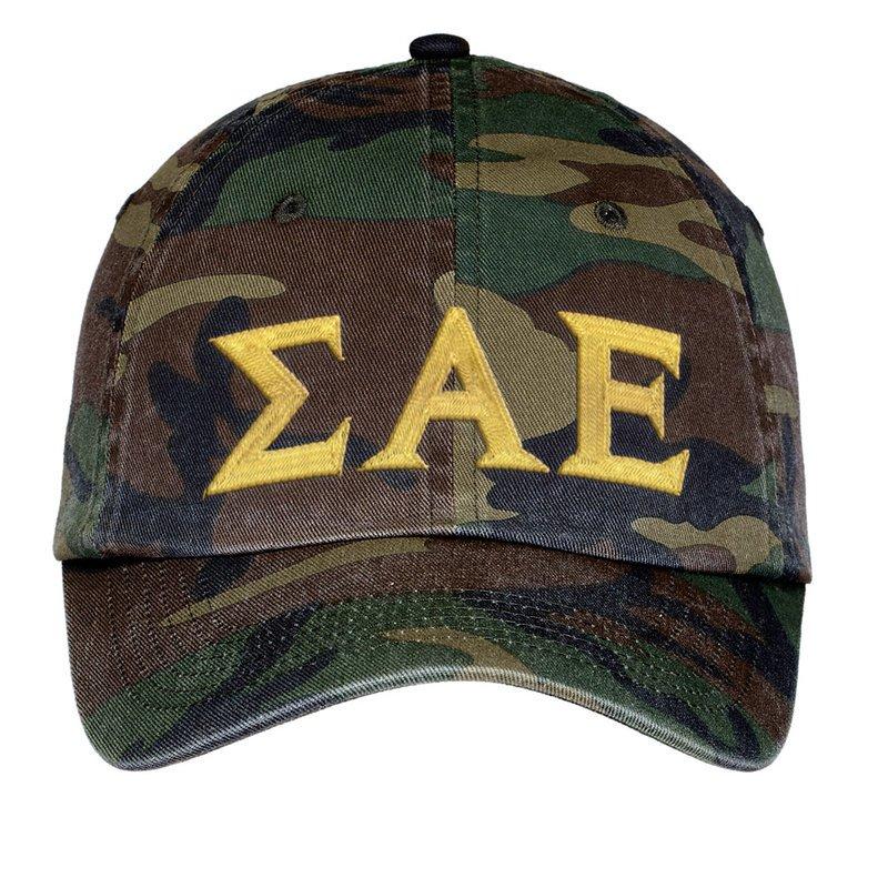 Sigma Alpha Epsilon Lettered Camouflage Hat