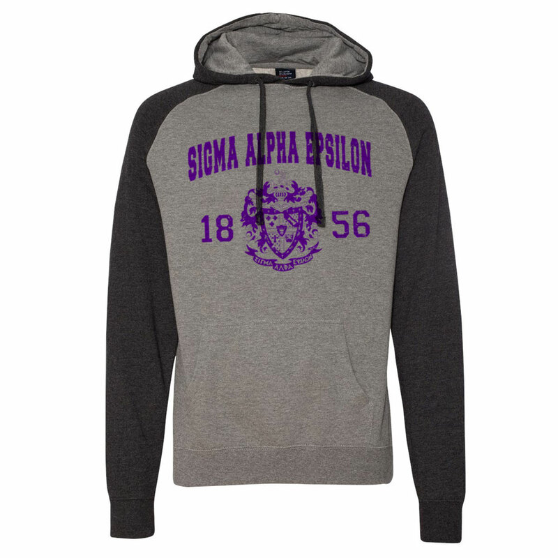 Sigma Alpha Epsilon Raglan Heather Pullover