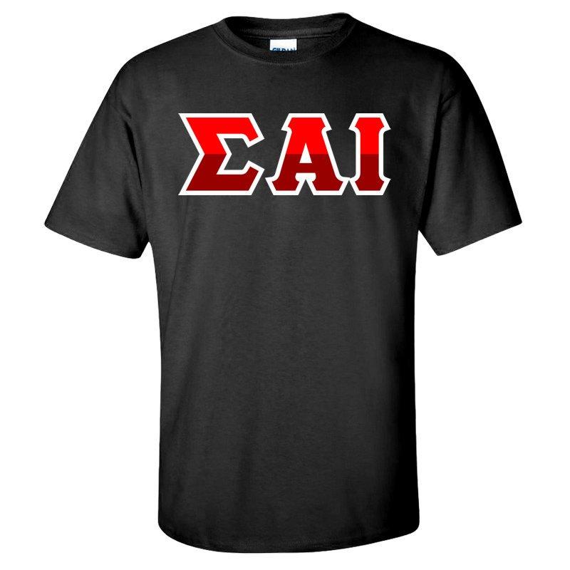 Sigma Alpha Iota Two Tone Greek Lettered T-Shirt
