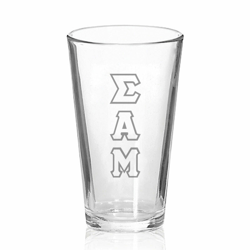 Sigma Alpha Mu Big Letter Mixing Glass