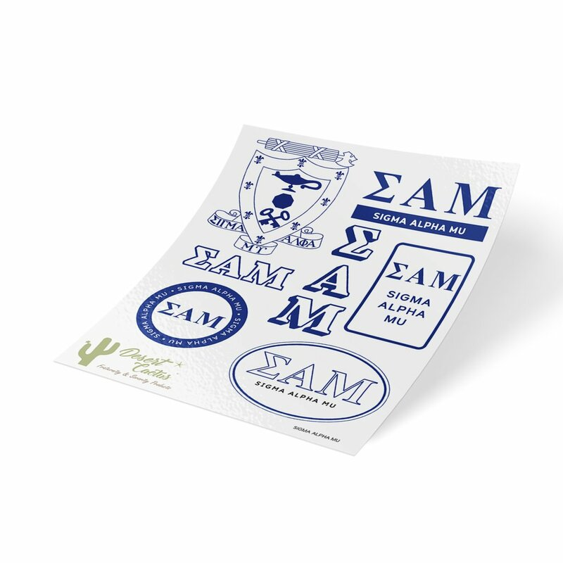 Sigma Alpha Mu Traditional Sticker Sheet
