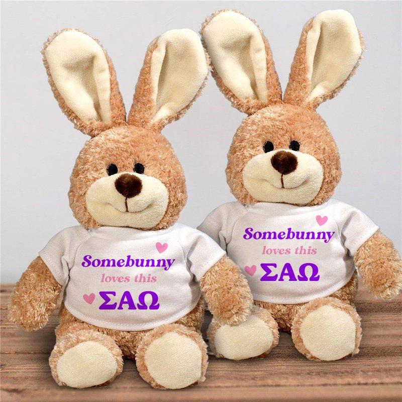 Sigma Alpha Omega Somebunny Loves Me Stuffed Bunny