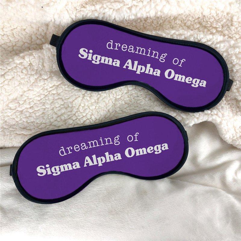 Sigma Alpha Omega Sweet Dreams Eye Mask