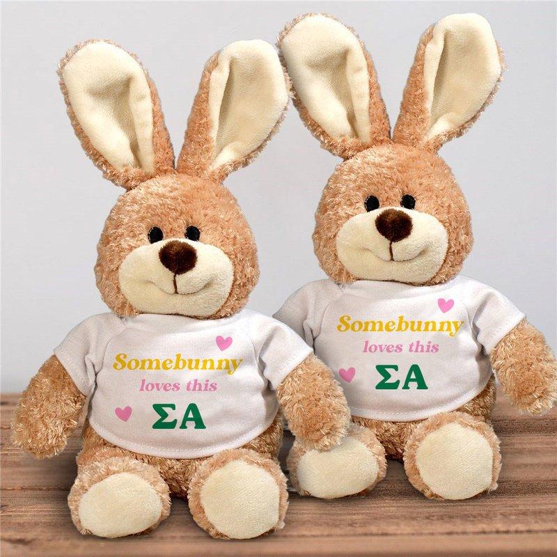 Sigma Alpha Somebunny Loves Me Stuffed Bunny