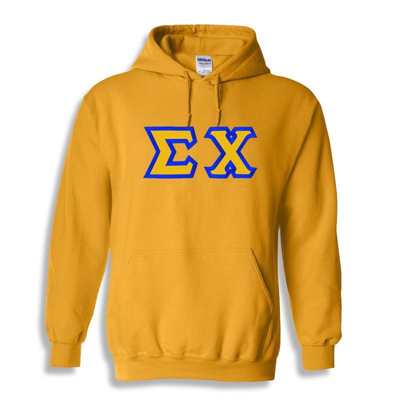 Sigma Chi Custom Twill Hooded Sweatshirt