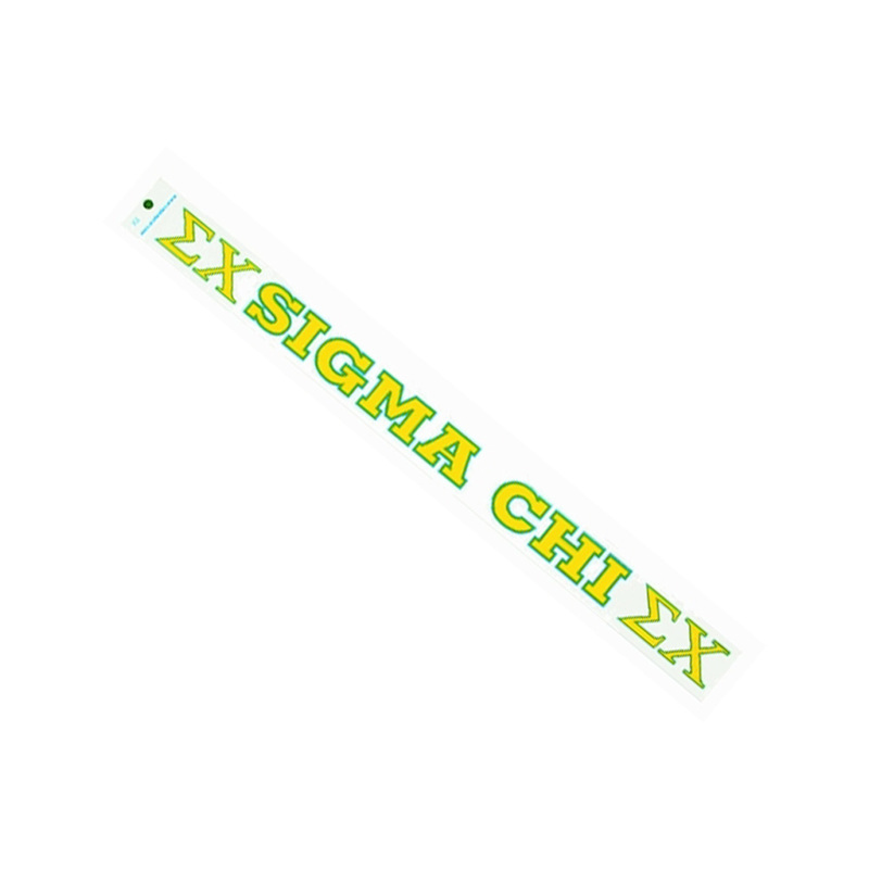 Sigma Chi Long Window Decal