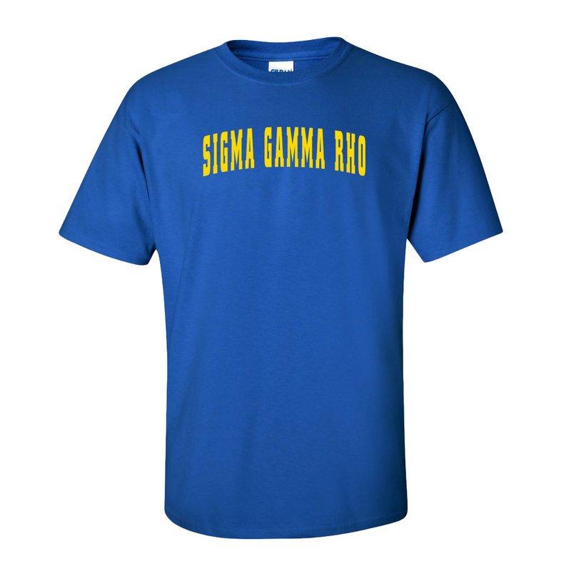 Sigma Gamma Rho Letterman T-Shirts