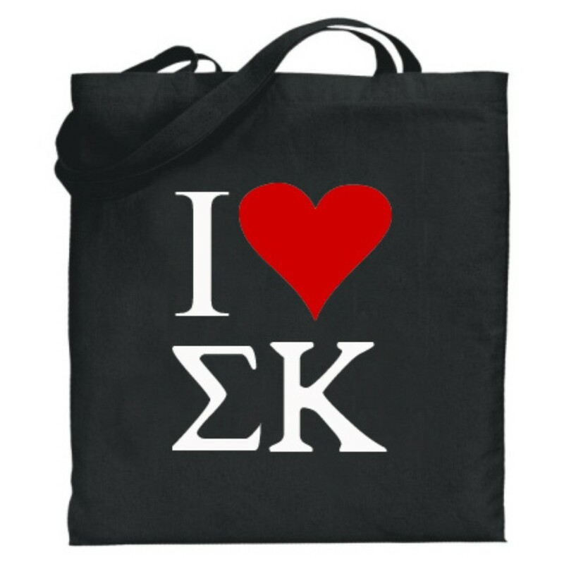 Sigma Kappa I Love Tote Bags