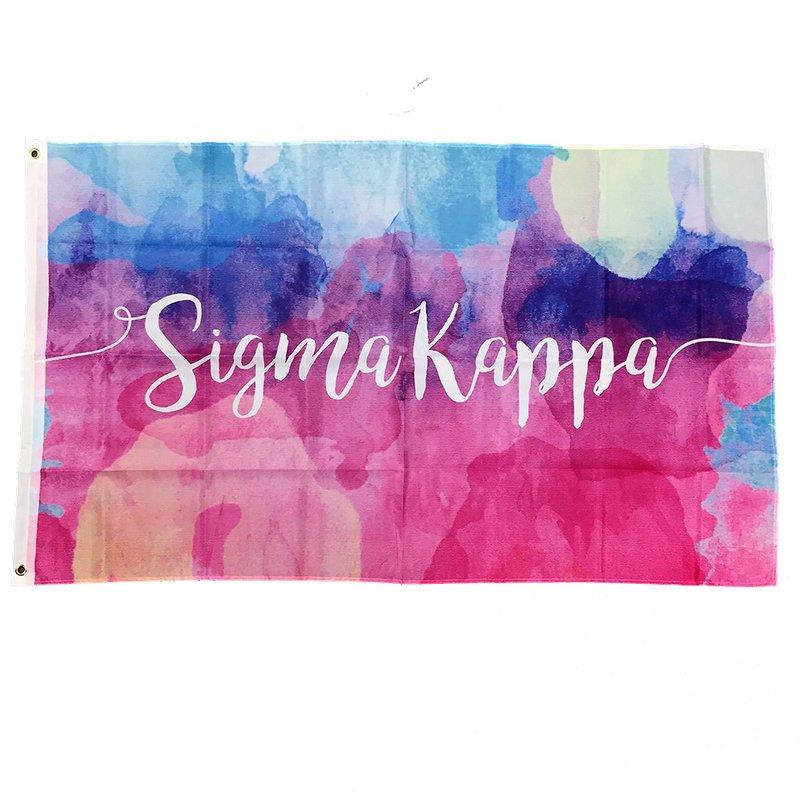 Sigma Kappa Watercolor Sorority Flag