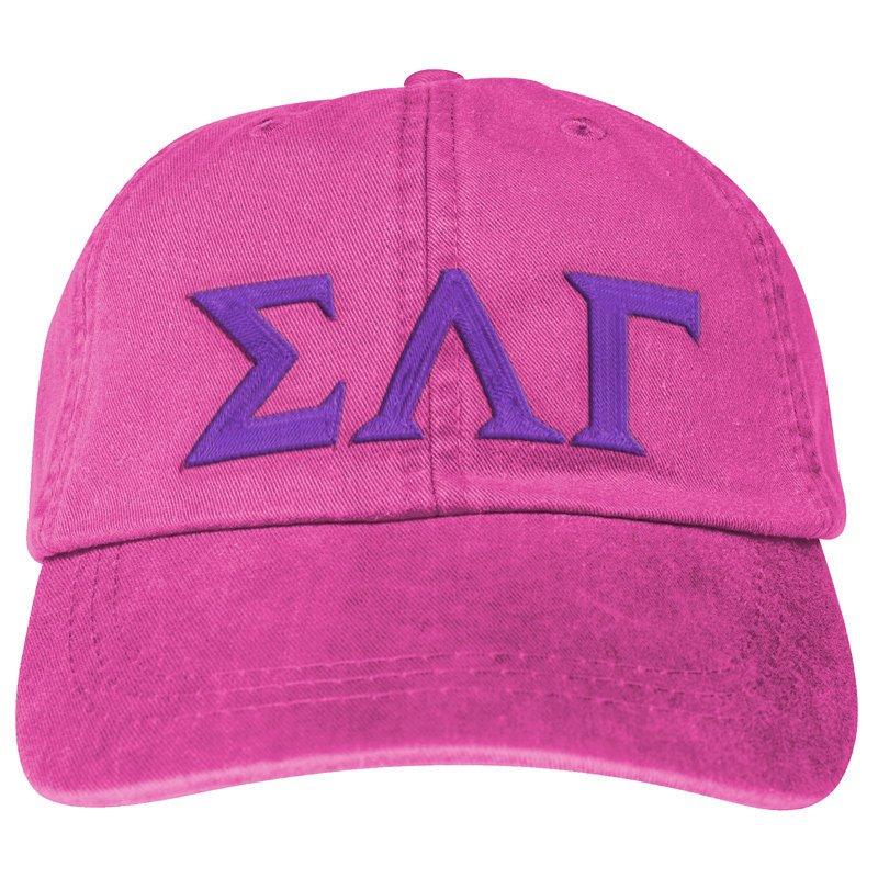 Sigma Lambda Gamma Lettered Premium Pastel Hat