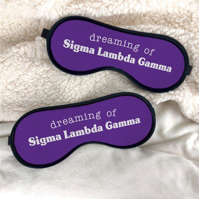 Sigma Lambda Gamma Sweet Dreams Eye Mask