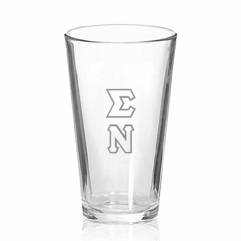 Sigma Nu Big Letter Mixing Glass