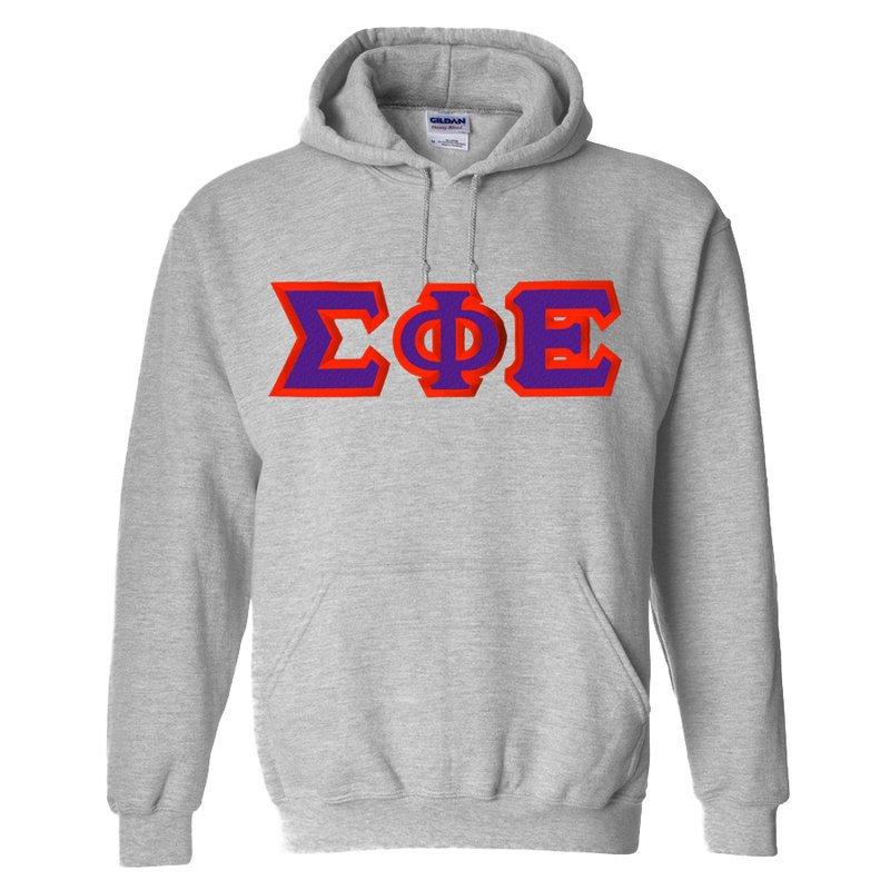 Sigma Phi Epsilon Custom Twill Hooded Sweatshirt