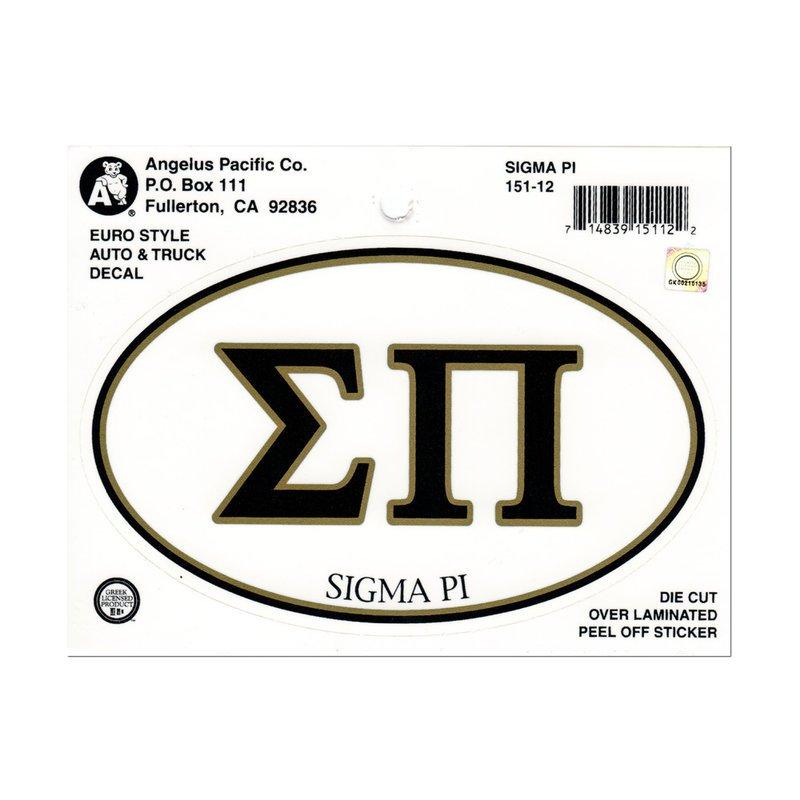 Sigma Pi Euro Decal Oval Sticker