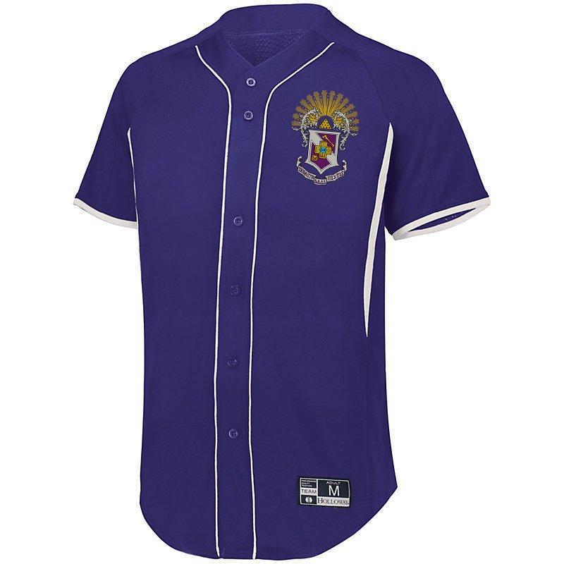 Sigma Pi Game 7 Full-Button Baseball Jersey