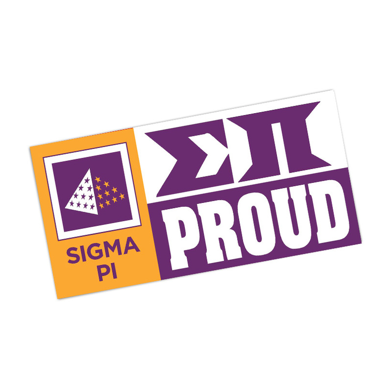 Sigma Pi Proud Bumper Sticker - CLOSEOUT