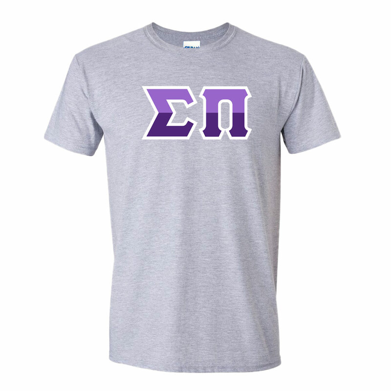 Sigma Pi Two Tone Greek Lettered T-Shirt